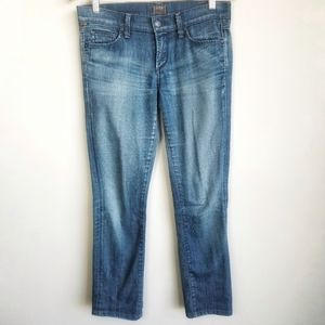 COH / 'Ava' Low Rise Straight Leg Med Blue Jeans